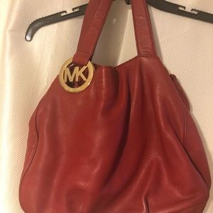 Red leather MK bag